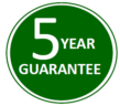 Dean Stoves 5 year guarantee