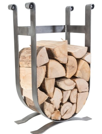 Low-Log-Cradle-U-shaped-log-H:710mm-W:405mm-produced-by-dean-forge-