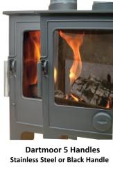 Dean Stoves Dartmoor Wood burning Stoves Door handle options