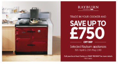 Rayburn Trade-in Offer 15th April - 25th May 2019