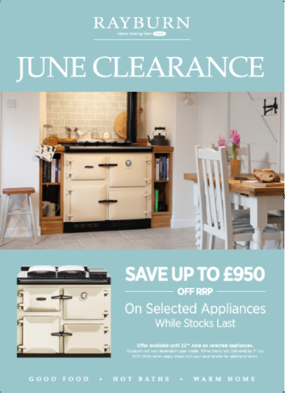 Rayburn offer - June Clearance - save up to £950 off RRP