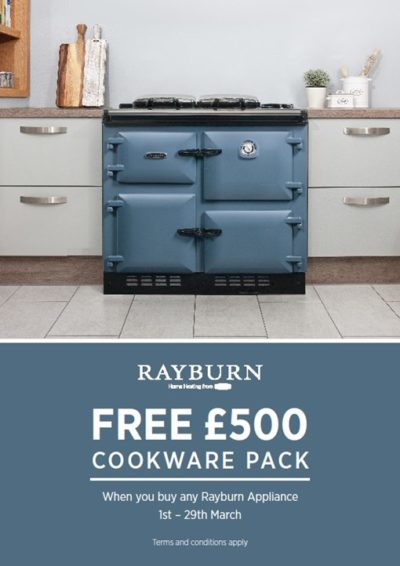free £500 pound cookware pack offer 1st - 29th March 2019