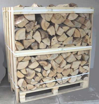 Crate of kiln dried wood Ash