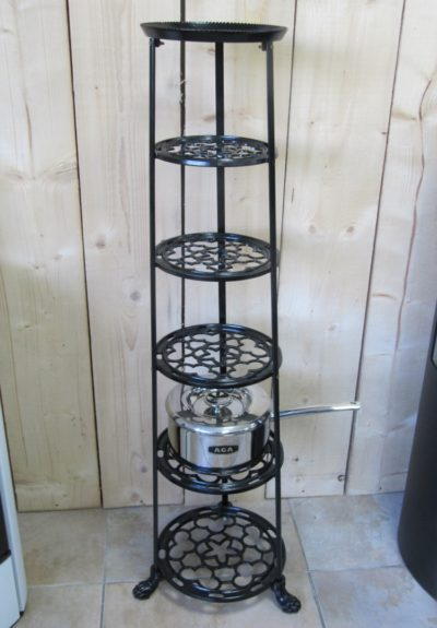 Victorian style 6 tier black-painted-iron-pot-stand
