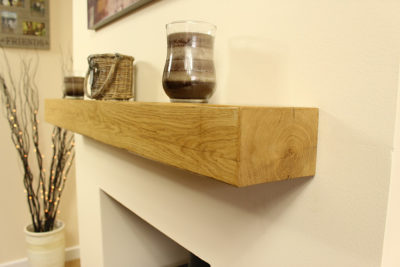 Solid Oak Mantle Deep Grain