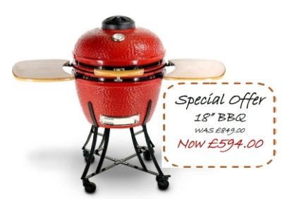 "Special offer 18"" Ceramic BBQ Oven was £849.00 NOW £594.00"